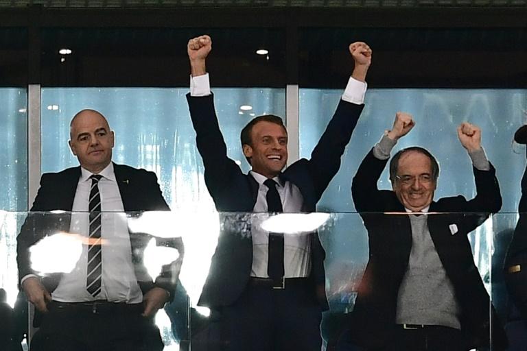 Macron asistirá a la final del Mundial en Moscú con su esposa